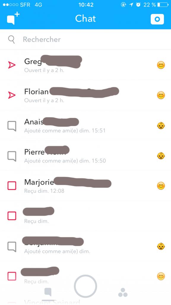 Snapchat-Historique