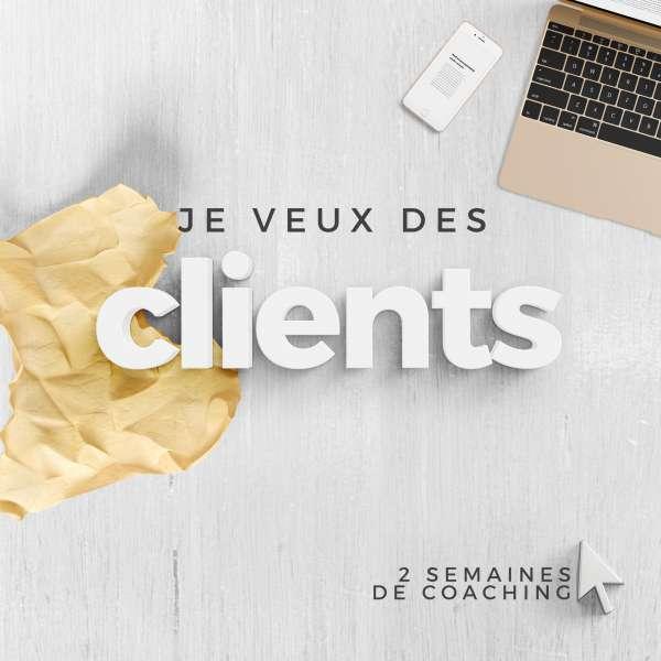 Coaching personnalisés de 2 semaines pour t'aider à trouver des clients
