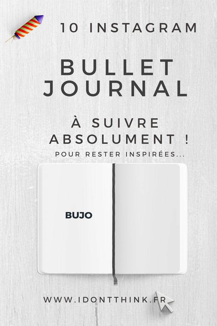 Découvre 10 comptes Instagram consacrés au Bullet Journal !