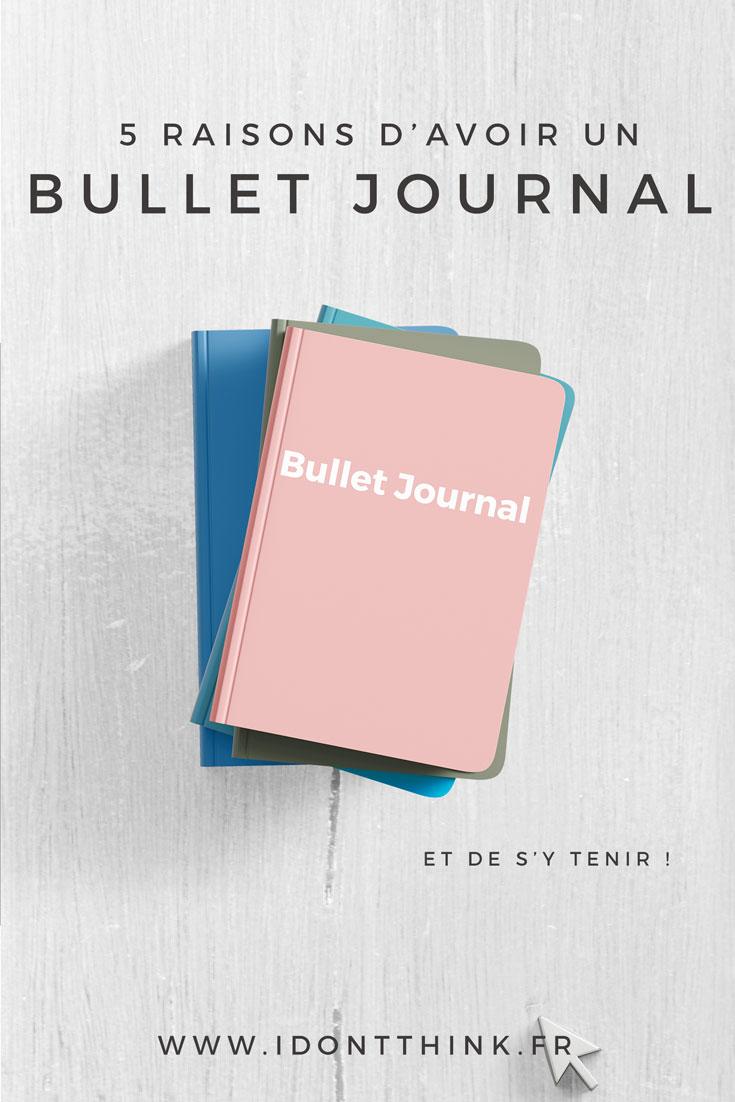 Je te donne 5 excellentes raisons d'opter pour le Bullet Journal dans ton quotidien !