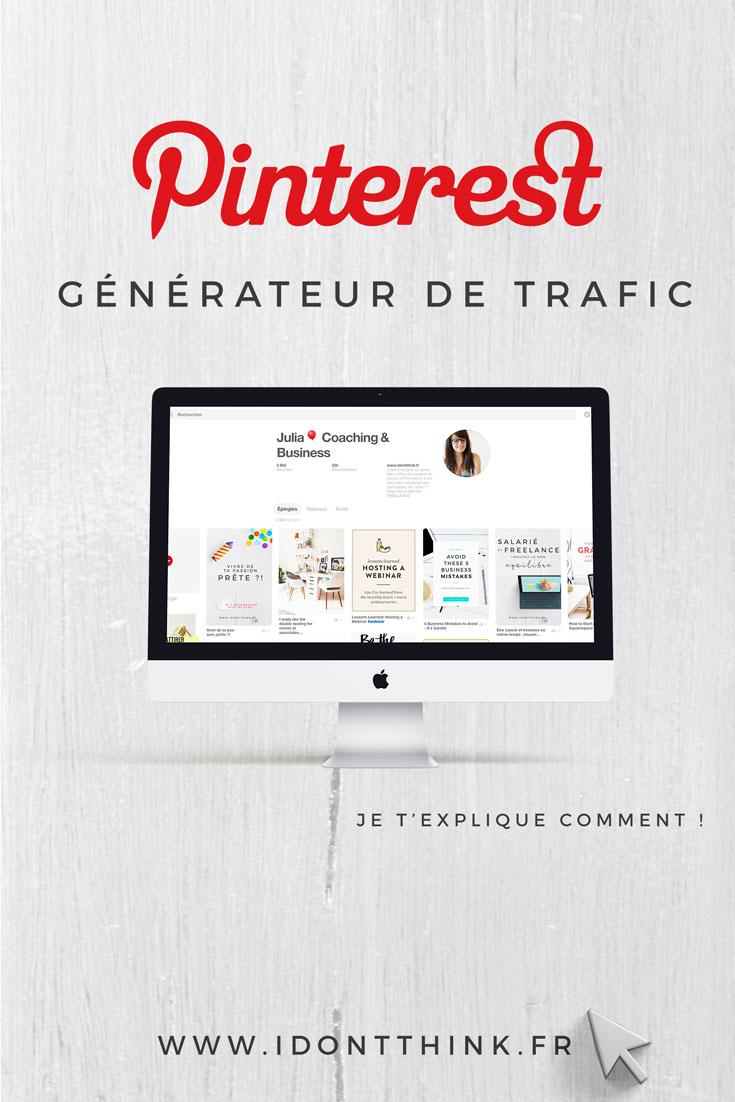 Pinterest : générateur de trafic